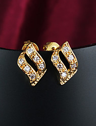 Earring Clip Earrings Jewelry Women Wedding / Party / Daily / Casual Zircon / Gold Plated 1set Gold