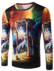 Men's Long Sleeve Hoodie & Sweatshirt , Cotton Print