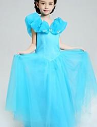 Ball Gown Floor-length Flower Girl Dress - Satin / Tulle Sleeveless