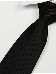 Jacquard noir des hommes en soie de polyester adultes sergé cravate cravate