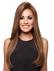 cheveux bruns raides assez moyen perruques synthétiques de haute qualité