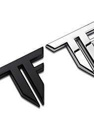 TF Letters Bar Transformers Zinc Alloy Car Styling Refitting Emblem Badge 3D Sticker Auto Cool Mark for Sport Car