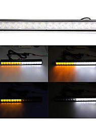 16 LED Vehicle Emergency Warning Flashing Flash Strobe Light White + Yellow