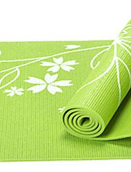 PVC Йога коврики 17361*8 Липкий / Non Toxic 8.0 mm Красный / Синий / Зеленый / Фиолетовый