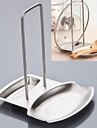 Stainless Steel Pan Pot Rack Cover Lid Rack Stand Spoon Holder