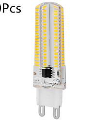 10kpl himmennettävä E14 / G9 / G4 / E17 / G8 / E12 / E11 / BA15d 12W 152smd 3014 1200lm lämmin valkoinen / viileä valkoinen led valo (ac