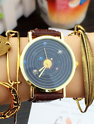 Planets Watch , Vintage Leather Watch, Women Watches, Unisex Watch, Boyfriend Watch, Men's Watch, Watercolor, Astronomy Cool Watches Unique Watches