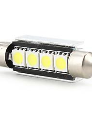 42mm 4 SMD Ampoule LED lumière blanche