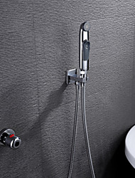 Bathroom/Toilet Portable Shattaf Bidet Diaper Sprayer, With Thermostatic Faucet Valve And 150 cm Stainless Steel Hose