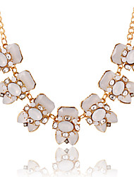 Hanson Women's Korean-style High Quality Elegant Fashion Alloy Inlaid Stones Jewelry Necklace