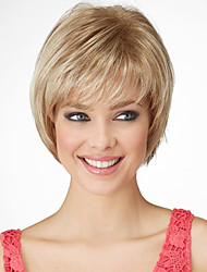 Latest Fashion Short Straight Human Virgin Remy Hand Tied Top Capless Wigs for Lady