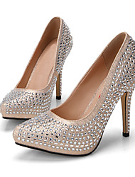 2015 new diamonds sequins cloth embossed female high-heeled shoes Glitter upper thin shallow mouth wedding shoes