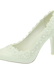 Women's Wedding Shoes Heels / Pointed Toe Heels Wedding / Party & Evening / Dress White