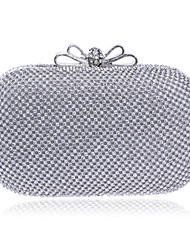 L.west Women Elegant High-grade Bowknot Diamonds Evening Bag