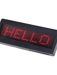 programmierbare rote LED Scrollen Namensschild Schild Visitenkarte Tag-Laufschrift-Anzeige