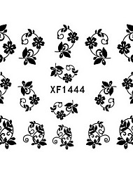 1 PCS 3D Water Transfer Printing Nail Stickers XF1444