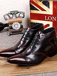 Sapatos Masculinos Botas Vinho Couro Ar-Livre / Casual / Festas & Noite