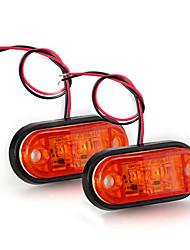 2 x reboque carro piranha conduziu lado marcador pisca-pisca lâmpada luz âmbar