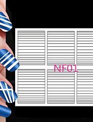90pcs diferentes tamanhos tomada profissional ferramenta de arte do teste padrão do prego # 01