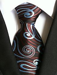 Men Wedding Cocktail Necktie At Work Coffee Blue Tie