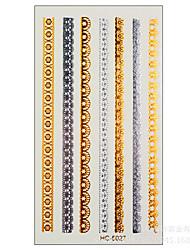 (1pcs) Gold And Silver Bracelets Fashion Temporary Tattoo Stickers Body Art Waterproof Tattoo Pattern HC5027
