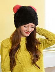 Women Cute Rabbit Fur  Hats LD00081
