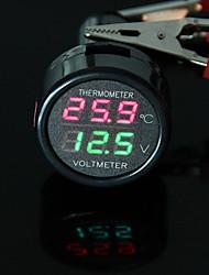 carchet allume-cigare thermomètre voltmètre numérique LED 12V / 24V rouge