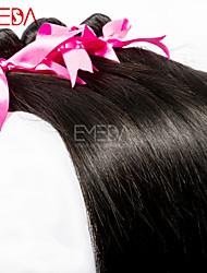 3pcs / lot 8 '' - 30 '' premières soie de cheveux vierges droites extensions de cheveux humains péruviens cheveux naturels noirs humain