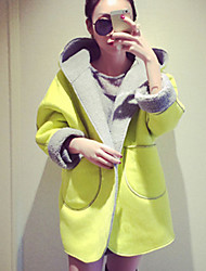 Women's Winter Brighter Hood Wool All Match Loose Coat