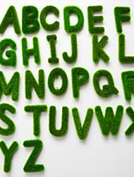 1 Pcs The Simulation Moss Letters PU Plants Artificial Flowers (Random Pattern)