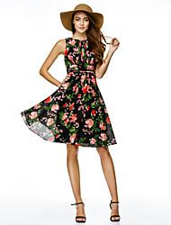 TS couture® коктейль платье Онлайн драгоценность длиной до колен шифон с рисунком / печати