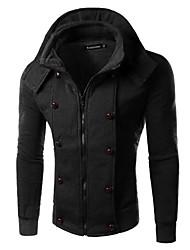 Informell Rund - Langarm - MEN - Pullover mit / ohne Mützen ( Baumwolle / Baumwoll Mischung )