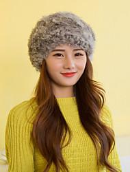 Women Cute Rabbit Fur  Hats LD00079