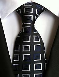 Men Wedding Cocktail Necktie At Work White Black Colors Tie
