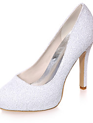 Women's Spring / Summer / Fall Heels Glitter Wedding / Party & Evening Stiletto Heel Black / Ivory / White