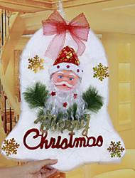 """48 * 30 cm / 19 * 12 """"navidad puertas cascabel espuma ventana de cortinas xmas tree hotel la decoración del hogar de la iglesia de santa"""