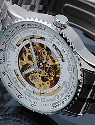 Men's Alloy Analog Mechanical Wrist Watch (Sliver)