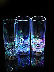 15*6CM Christmas Colorful Flash Light Plastic Induction Cup Water To Shine Light LED Lamp 1pc