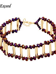 Jewelry Choker Necklaces / Strands Necklaces Wedding / Party / Daily / Casual Alloy / Acrylic / Resin / Gold Plated 1pc WomenWedding