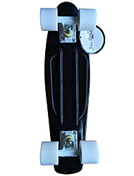 Classic Plastic Skateboard (22 Inch) Cruiser Board Black with White Wheels