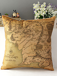 "43cm*43cm 17""*17"" The Lord of the Rings Cotton / Linen Cotton&linen Pillow Cover / Throw Pillow With No Insert"