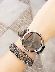 Vintage Roman Numerals Triangle Leather Analog Quartz Womens Watches Unisex Watches(Assorted Colors) Cool Watches Unique Watches Strap Watch