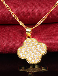 Necklace Pendant Necklaces Jewelry Wedding / Party / Daily / Casual Birthstones Zircon / Gold Plated Gold / Silver 1set Gift