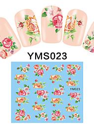 4PCS Cartoon Watermark Nail Art Stickers YMS21-24