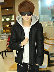 Winter wear cotton coat both sides hooded wearing cotton thickening cotton-padded jacket men's clothing