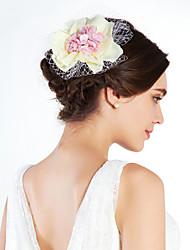 Women's Imitation Pearl Net Headpiece-Special Occasion Fascinators
