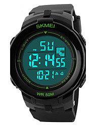 Skmei® Men's Round Dial PU Band Outdoor Sports Digital Watch 50m Waterproof Assorted Colors Cool Watch Unique Watch