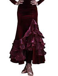 Ballroom Dance Skirts Women's Performance / Training Velvet Pattern/Print 1 Piece