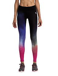 Laufen Strumpfhosen/Lange Radhose Damen Atmungsaktiv Laufen Vansydical Dehnbar Blau Neuartige / Modisch S / M / L / XL