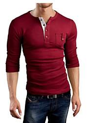Men's Long Sleeve T-Shirt , Cotton Casual / Sport Pure